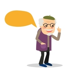 Older man with speech bubble vector image vector image