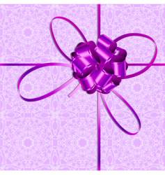 violet bow vector image