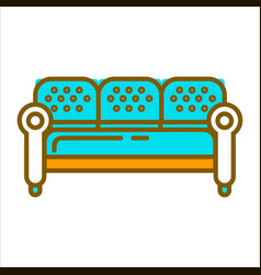 blue big furniture vector image vector image