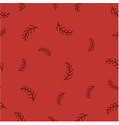 seamless pattern with spruce branches vector image