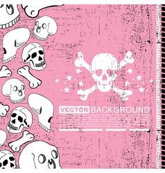 skulls and bones vector image vector image
