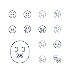 13 sad icons vector