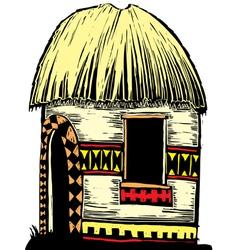 African hut vector