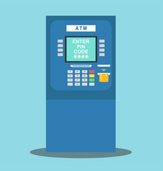 atm payment vector image