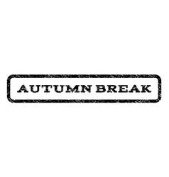 Autumn break watermark stamp vector