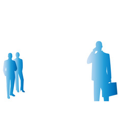 background couple of business people vector image