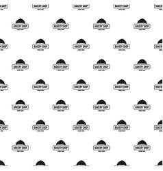 bakery pattern seamless vector image