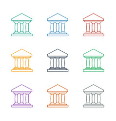Bank icon white background vector