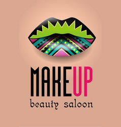 banner for a beauty salon 2 vector image
