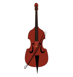 big double bass on white background vector image