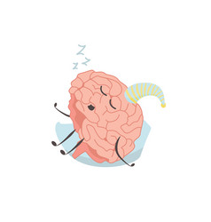 brain characters sleeps resting exercises and vector image