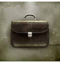 Brief case old-style vector image