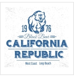 California Republic vintage typography with a vector