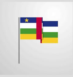 central african republic waving flag design vector image