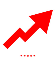 chart of growth icon color fill style vector image