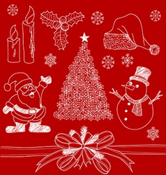 Christmas Doodles1 vector image