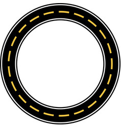 circle race circuit vector image