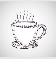 Coffee cup drawing vector
