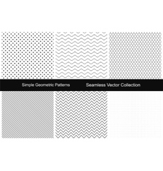 Collection of simple seamless patterns vector