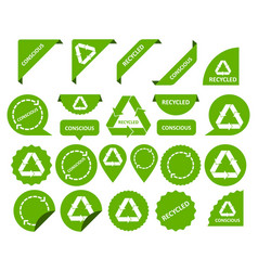 Conscious consumption recycling things set of vector
