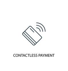 Contactless payment concept line icon simple vector