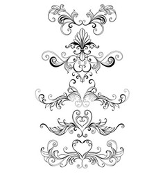 contour frame scroll vector image