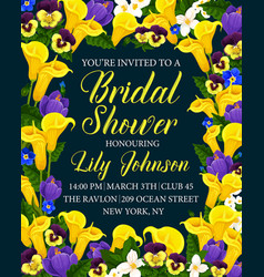 creative template for bridal shower vector image