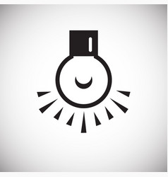 Dark room bulb icon on white background for vector