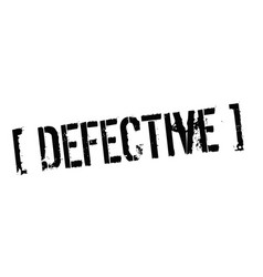 Defective typographic stamp vector