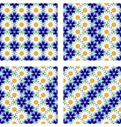 Design seamless flower pattern vector image