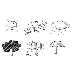 Different kinds of weather vector