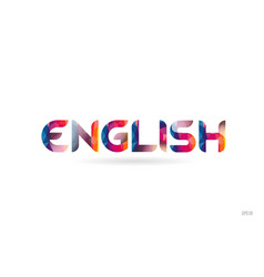 english colored rainbow word text suitable for vector image