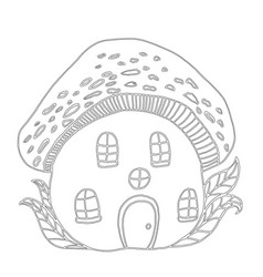 fairytale house mushroom amanita children s vector image