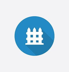 Fence Flat Blue Simple Icon with long shadow vector