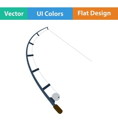 Flat design icon of curved fishing tackle vector image