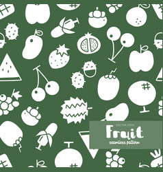 Fruit icon seamless pattern vector