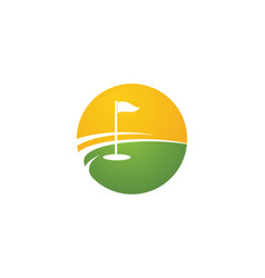 golf logo template icon design vector image