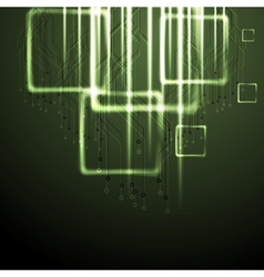 Green shiny technology background vector