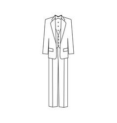 groom suit vector image