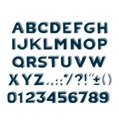 hand drawin handmade vintage alphabet handwritting vector image