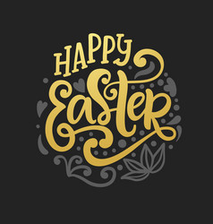 happy easter banner greeting card background vector image