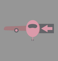 Icon in flat design for airport passengers vector