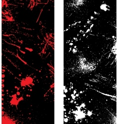 Ink blots banners vector