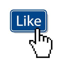 like icon mouse cursor pressing button vector image