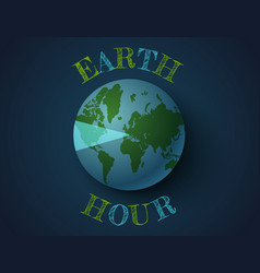 March earth hour day vector