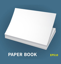 mock-ups of paper books-12 vector image