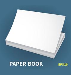 Mock-ups of paper books-12 vector
