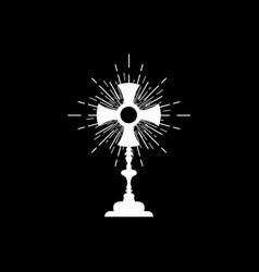 Monstrance ostensorium roman catholic symbol vector