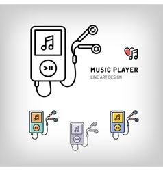 Music player isolated icon vector