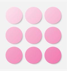 nine pink circles button circle banner vector image